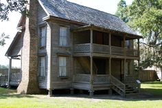 Originally located in Hardee County, just four miles west of Wauchula, the house functioned as home to the Carltons and their ten children | Carlton House at Cracker Country - Florida State Fair