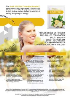 Our new booster available now 19.50 a month order from tracyloux.juiceplus.com