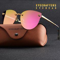 Luxury Retro Vintage Polarized Sexy Cat Eye Mirror Reflective Sunglasses a92eb70d6129