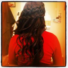 double waterfall braid♥  (my hair for prom!)