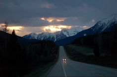 #sunset #moutains #road