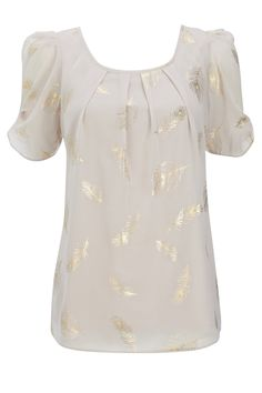 Stone Feather Blouse from Wallis, $58.
