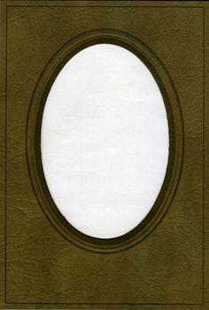 Old oval frame