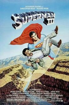 """A computer hacker (Richard Pryor) creates black Kryptonite using cigarette tar. When Superman gets a load of it (Christopher Reeve), it splits him into good and bad Supermen. Also starring, as Lana Lang, """"Clark's mother"""" (unless you watch """"Smallville,"""" don't ask)."""