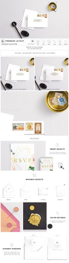 Envelope & Card Mockup by Custom Scene on @creativemarket