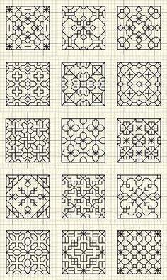 Thrilling Designing Your Own Cross Stitch Embroidery Patterns Ideas. Exhilarating Designing Your Own Cross Stitch Embroidery Patterns Ideas. Motifs Blackwork, Blackwork Cross Stitch, Blackwork Embroidery, Ribbon Embroidery, Cross Stitching, Cross Stitch Embroidery, Phulkari Embroidery, Embroidery Designs, Quilting Designs