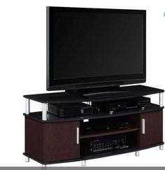 TV Stands For Flat Screens 55 Inch Entertainment Media Console Black/Cherry New