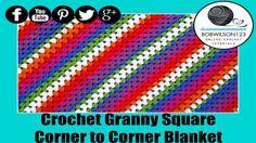 Square Corner to Corner Afghan Granny Style - YouTube