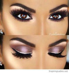Amazing pinky eye makeup for brown eyes | Inspiring Ladies