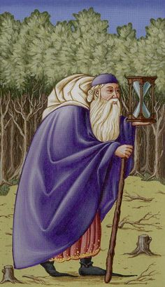 The Hermit - Medieval Tarot