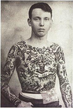 Vaudeville and Circus tattoos. 1900-1935