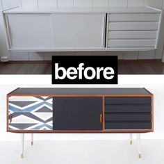 """Aleksandra's Furniture on Instagram: """"Before and after 😊 #fromtrashtotreasure #furniture #funfurniture  #paintedfurniture #trondheim  #Aleksandrasfurniture  #skjenk  #oppussing…"""" Cool Furniture, Painted Furniture, Trondheim, Cabinet, Storage, Instagram, Home Decor, Clothes Stand, Purse Storage"""
