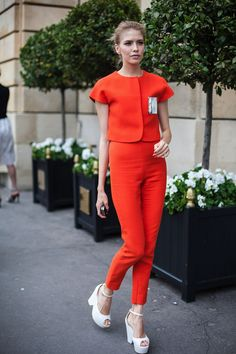 topshop:  -A great orange co-ord outfit is always a winning look.