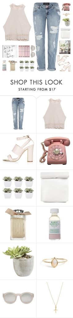 """""""one last time ♡"""" by my-pink-wings ❤ liked on Polyvore featuring River Island, LA: Hearts, Topshop, Abigail Ahern, Mario Badescu Skin Care, Ethan Allen and Maison Margiela"""