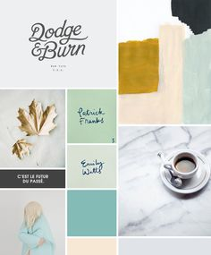 This mood board was created by another designer for her client...I thought the scripts and colors were very, very similar to what you like!
