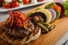 Food and Wine Matching - Deconstructed Beef Burger