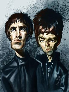 Gallagher brothers from Oasis
