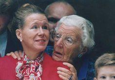 Prinsessen Juliana en Christina tijdens prinsjesdag 1994