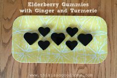 Elderberry Gummies with Ginger and Turmeric // deliciousobsessions.com