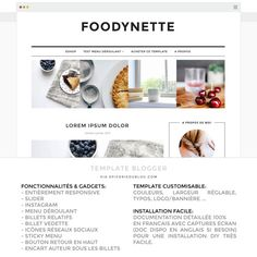Template Blogger Foodynette