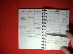 2014/15 weekly planning calendar and notebook