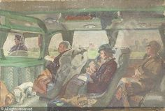 The Felixstowe to Ipswich Coach ~ Russell Sidney Reeve, 1895-1970 (UK)