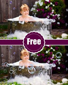 Free Bubbles Photoshop Overlays: Realistic Soap air bubble Photo effect, Outdoor photo Sessions,