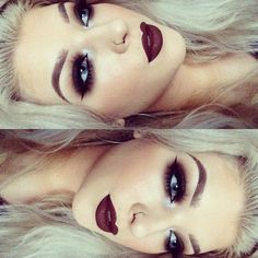 Super dark lips, mac diva                                                       …
