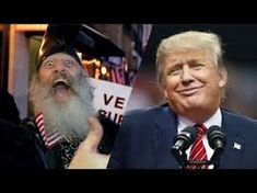 Weird guy on the L and Vermin Supreme on the R  (No, just kidding - Vermin Supreme on the L and Dirty Donald (who could easily BE the Vermin Supreme) on the R