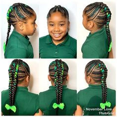 All styles of box braids to sublimate her hair afro On long box braids, everything is allowed! For fans of all kinds of buns, Afro braids in XXL bun bun work as well as the low glamorous bun Zoe Kravitz. Box Braids Hairstyles, Kids Braided Hairstyles, Fancy Hairstyles, Everyday Hairstyles, Hairstyle Ideas, Popular Hairstyles, Teenage Hairstyles, Hairstyles Pictures, Hairdos