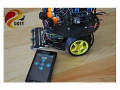 194.72$  Watch here - http://ali0c6.worldwells.pw/go.php?t=1816026601 - Official DOIT RC Car Chassis Suite Robot Diy RC Toy Wireless Control by Phone Bluetooth Starter Development Kit UNO R3  AVR 194.72$