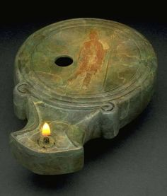 Roman oil lamp from the 1st century CE.