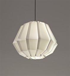 Pendant Option: Gino Sarfatti; Acrylic and Painted Metal Ceiling Light for Arteluce, c1957.