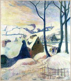 Village sous la neige - Paul Gauguin 1894