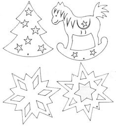 Decoration of windows on Christmas and New Year. And stencils. Homemade Christmas Decorations, Christmas Paper Crafts, Christmas Stencils, Christmas Templates, Scroll Saw Patterns, Scroll Design, Kirigami, Advent Calendar Activities, Sewing Appliques