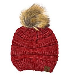 471fed3263b12 Womens Thick Cable Knitted Skully Beanie Visor Cap Button Pom Pom with  MIRMARU Scrunchy DUSTY PINK -- You can g… | Women's Winter Fashion Hats and  Caps ...