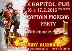16.-17.2.2016 Captain  Morgen party