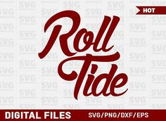 Roll Tide SVG Graphic Roll Tide Alabama, Alabama Crimson Tide Logo, Crimson Tide Football, Alabama Football, Oklahoma Sooners, American Football, College Football, Alabama Baby, Texas Longhorns