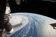 Space Station Flyover of Super Typhoon Noru