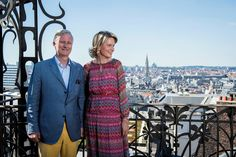 Belgian Royal Family visit the Belgian Comic Strip Center