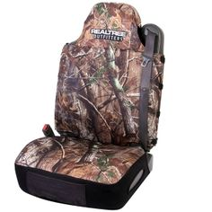 Realtree Camo Universal Neoprene Bucket Seat Cover. Front seat is 40/20/40 w/center console