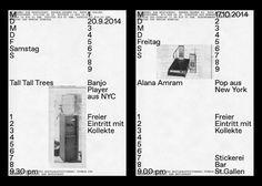 Stickerei Identity by Kasper-Florio Graphisches Design, Book Design, Layout Design, Print Design, Editorial Design, Editorial Layout, Poster Layout, Print Layout, Typography Images