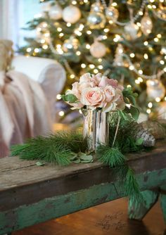 French Country Cottage Christmas Home Tour, - Herzlich willkommen French Country Christmas, Cottage Christmas, Christmas Rose, Shabby Chic Christmas, French Country Cottage, French Country Decorating, Rustic Christmas, All Things Christmas, Winter Christmas