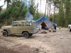 Mr. Patterson's Green Willys Wagon -This is where I want to be with my '54 wagon and '06 boy on a regular basis!