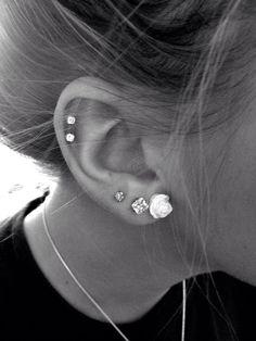 1c30dbaeb41f8de7432258b85fc74622 Jpg 736 981 Cartilage Piercings Three Ear Top
