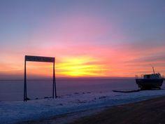 Zachód słońca - widok na Zatokę Gdańską/Pucką Baltic Sea, Celestial, Sunset, Outdoor, Outdoors, Sunsets, Outdoor Games, The Great Outdoors, The Sunset