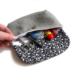 Purse cosmetic bag make up bag wallet clutch by meilingerzita. $22.00, via Etsy.