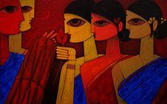 Tribal Dance   Jiaur Rahman's Online Fine Art Studio