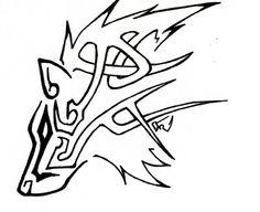 Celtic Tribal Wolf by ~DarkLordRinku Celtic Wolf Tattoo, Tribal Wolf Tattoo, Viking Tattoos, Tribal Tattoos, Celtic Tattoos, Lobo Tribal, Arte Tribal, Tribal Art, Wolf Tattoo Design