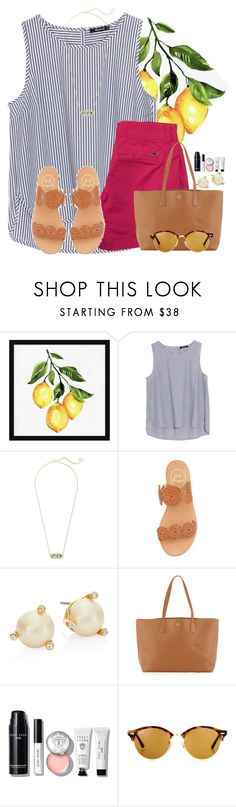 """Whale, whale, whale what do we have here?"" by flroasburn ❤ liked on Polyvore featuring Pottery Barn, Madewell, Kendra Scott, Jack Rogers, Kate Spade, Tory Burch, Bobbi Brown Cosmetics and Ray-Ban"